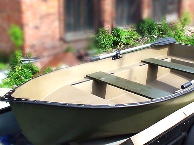 весельная металлическая лодка